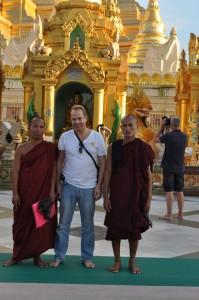 Jesper with monks