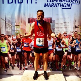 Mark running Copenhagen Marathon May 20 2018